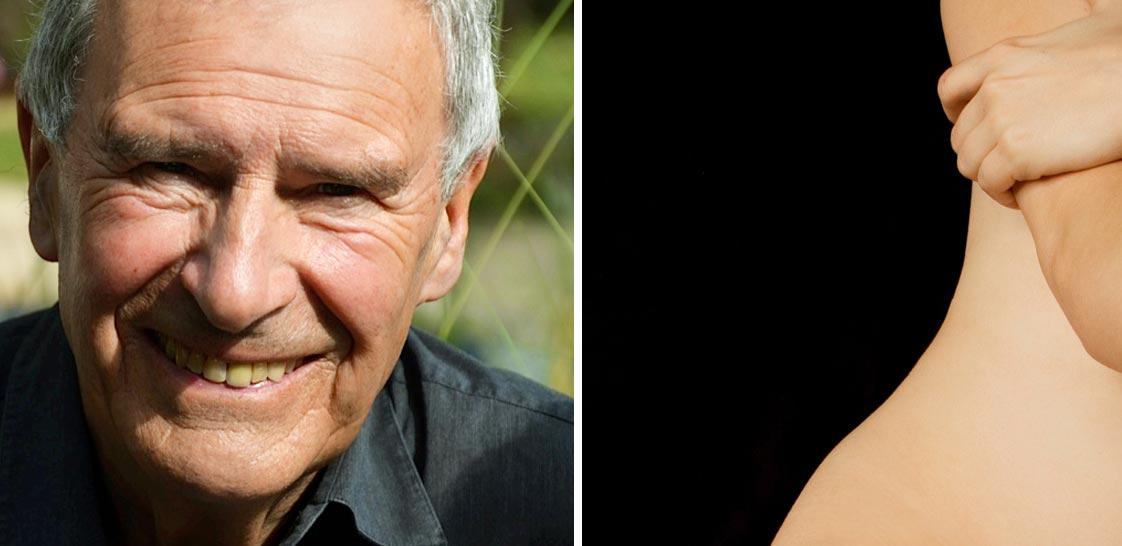 Älterer Mann und Frauenhaut